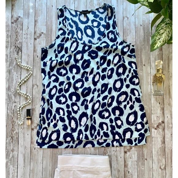 Banana Republic leopard print  blouse NWOT